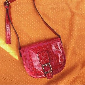 Handbags - Red/pink crossbody leather bag